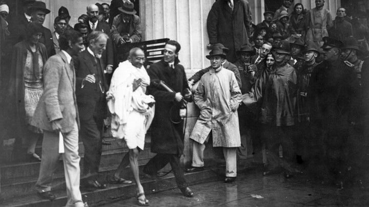 लंदन में महात्मा गांधी।