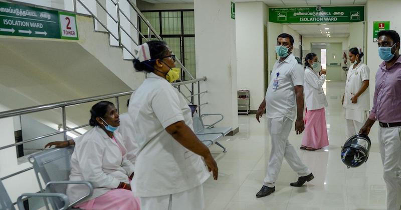 चेन्नई के एक अस्पताल का दृश्य।