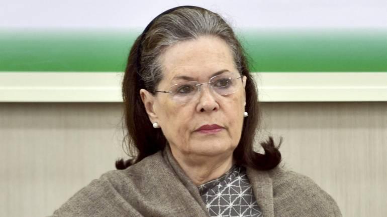 कांग्रेस अध्यक्ष सोनिया गांधी।