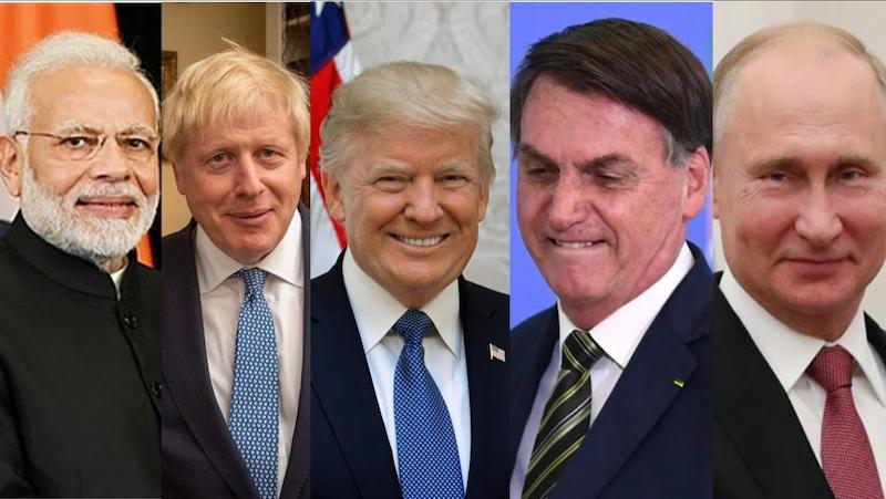दुनिया के पांचों देश के राष्ट्राध्यक्ष।